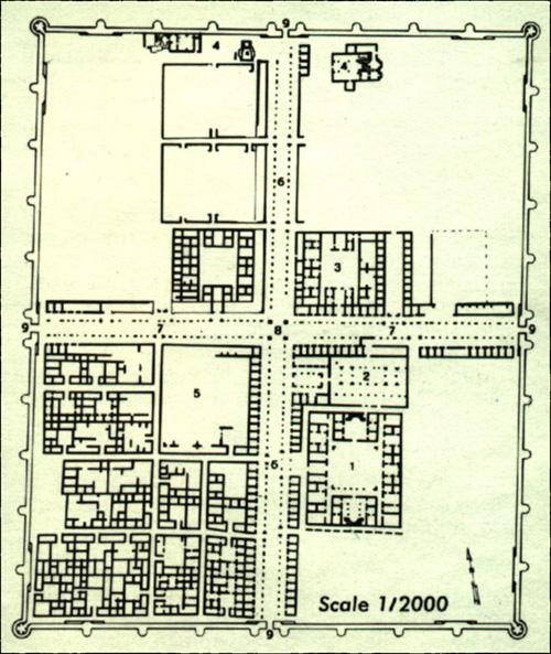 Anjar Ruins Excavation Site Plan Of Anjar